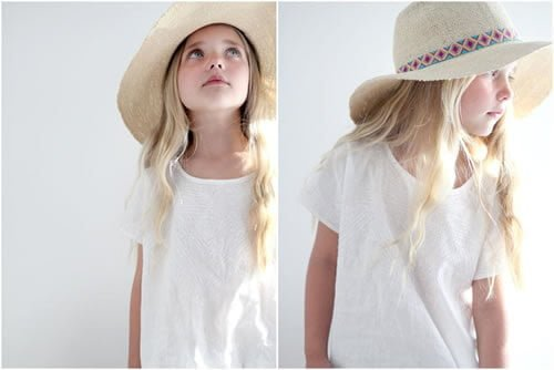 Small straw hats with wide brims perfectly sized for children are a great boho addition for both boys and girls.