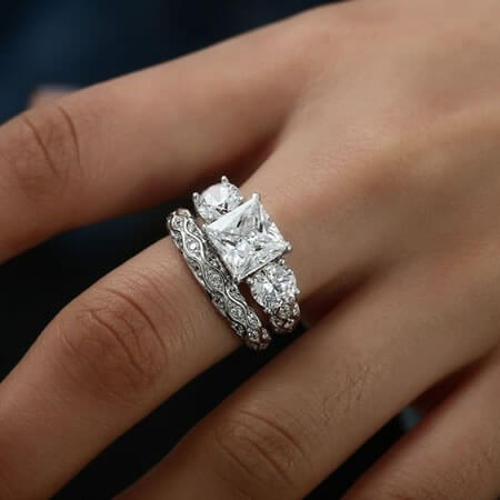 band wedding rings jewelry metamorphosis engagement free form bands design custom set