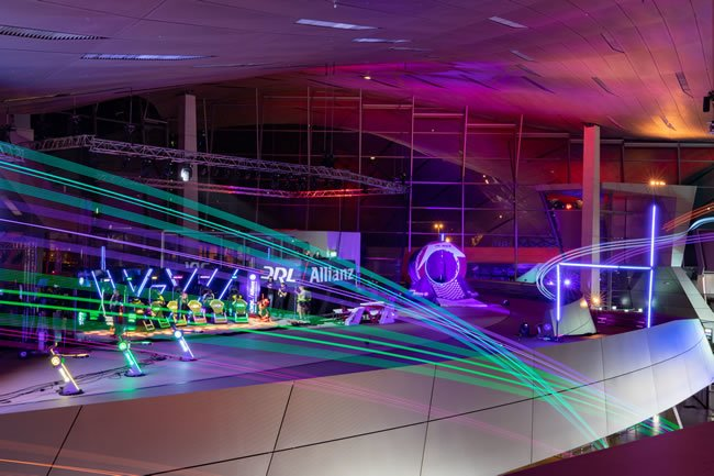 More than 3,000 guests attend Drone Racing League event at BMW Welt.
