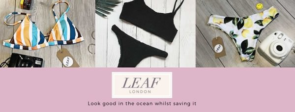 LEAF London Launches New Swimwear Line to Help Save the Ocean