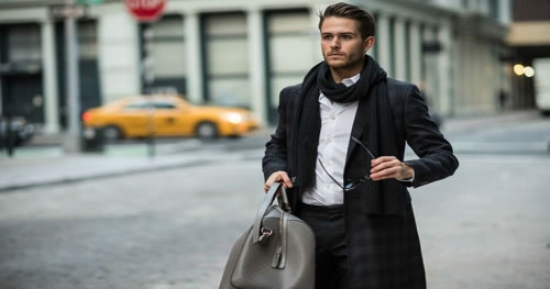 Say Good-Bye To Cold With Elegant Scarves Trendy Men's Accessories