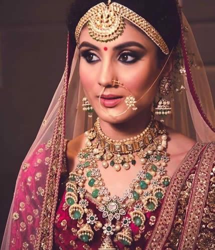 Bridal Jewellery With Lehenga