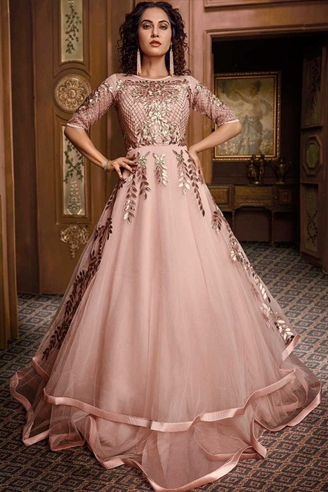 gown style anarkali dress for Wedding